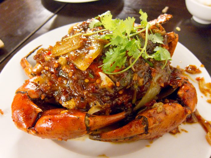 Crab in tamarind sauce